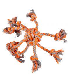 Flamingo Cotton James Octopus Orange Knotted Ball