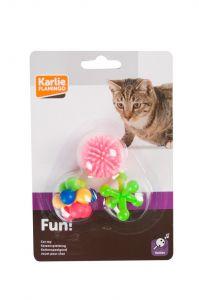 Flamingo Cat Toy Rubber 3pcs