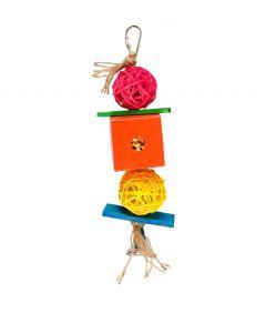 Flamingo Bird Toy Papyr Parakeet Cube MultiColour